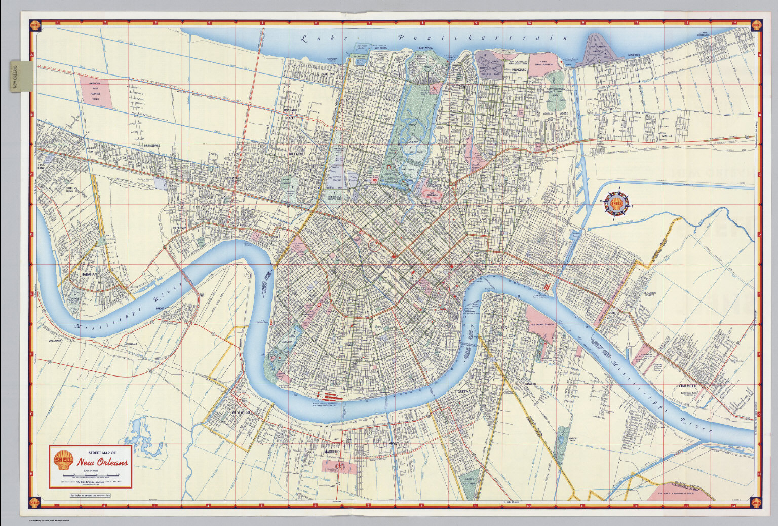 Shell Street Map Of New Orleans. - David Rumsey Historical Map - New Orleans Street Map Printable