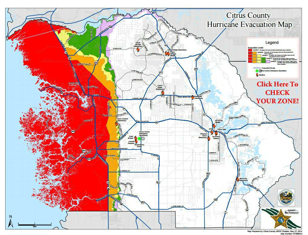 Shelters In Citrus Opening; Voluntary Evacuations Begin | Local News - Citrus Hills Florida Map