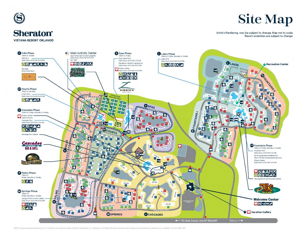 Sheraton Vistana Resort Resort Map | Disney! In 2019 | Orlando - Florida Resorts Map