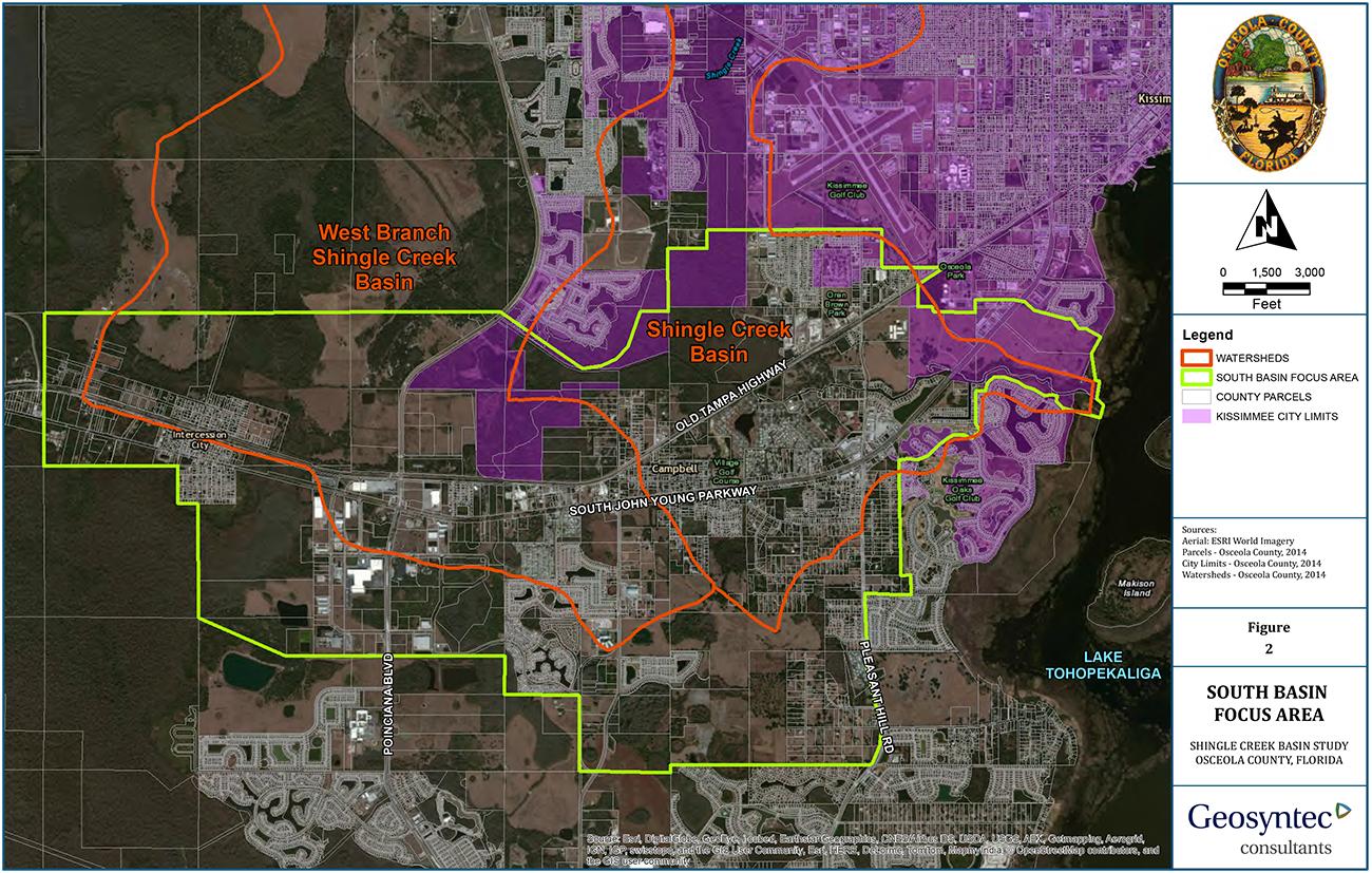 Shingle Creek Basin - Flood Zone Map Osceola County Florida