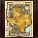 Shop Tx Oil And Gas Shales Map Framed Unique Texas Maps   Framed Texas Map