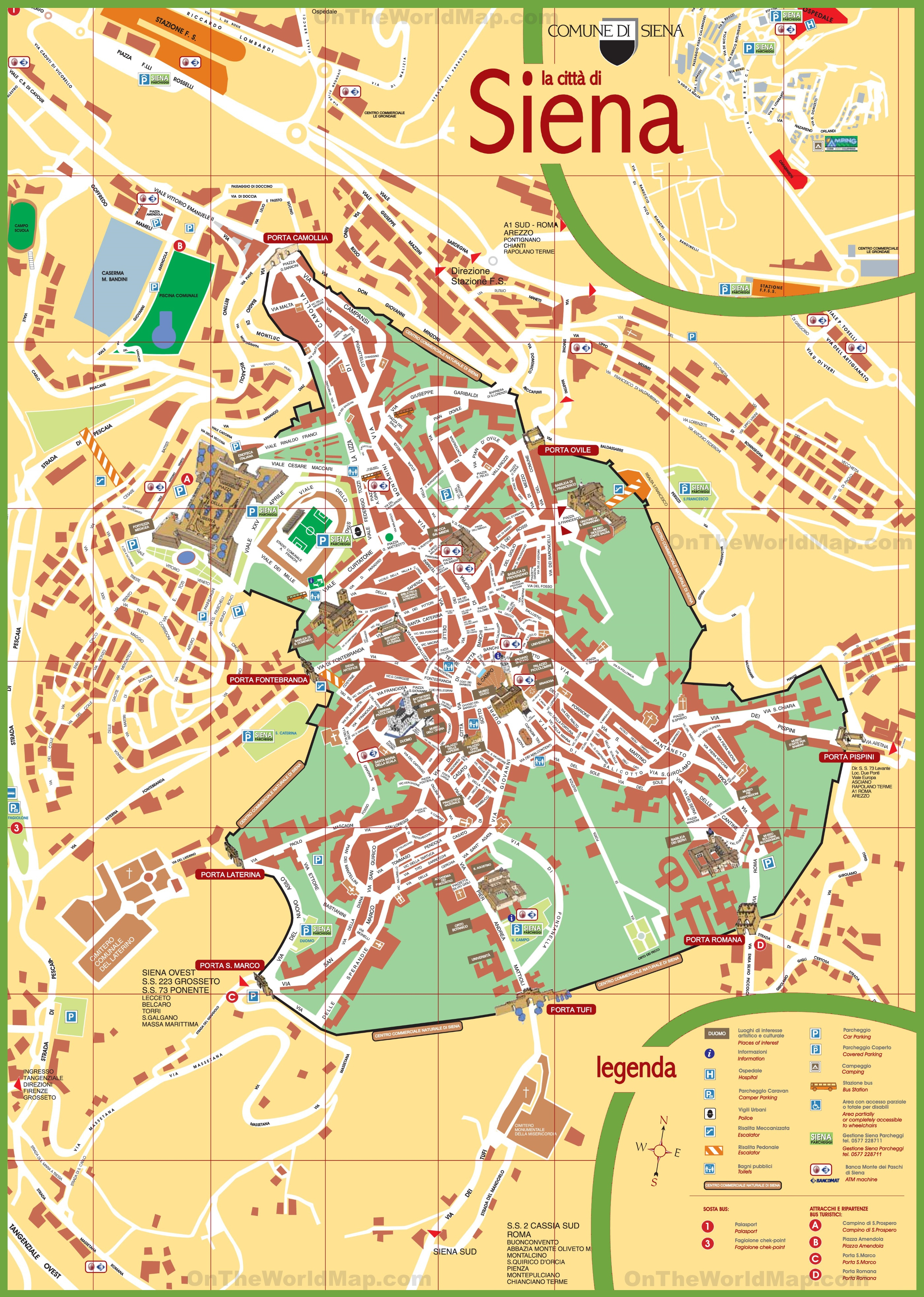 Siena Tourist Map - Sienna Texas Map