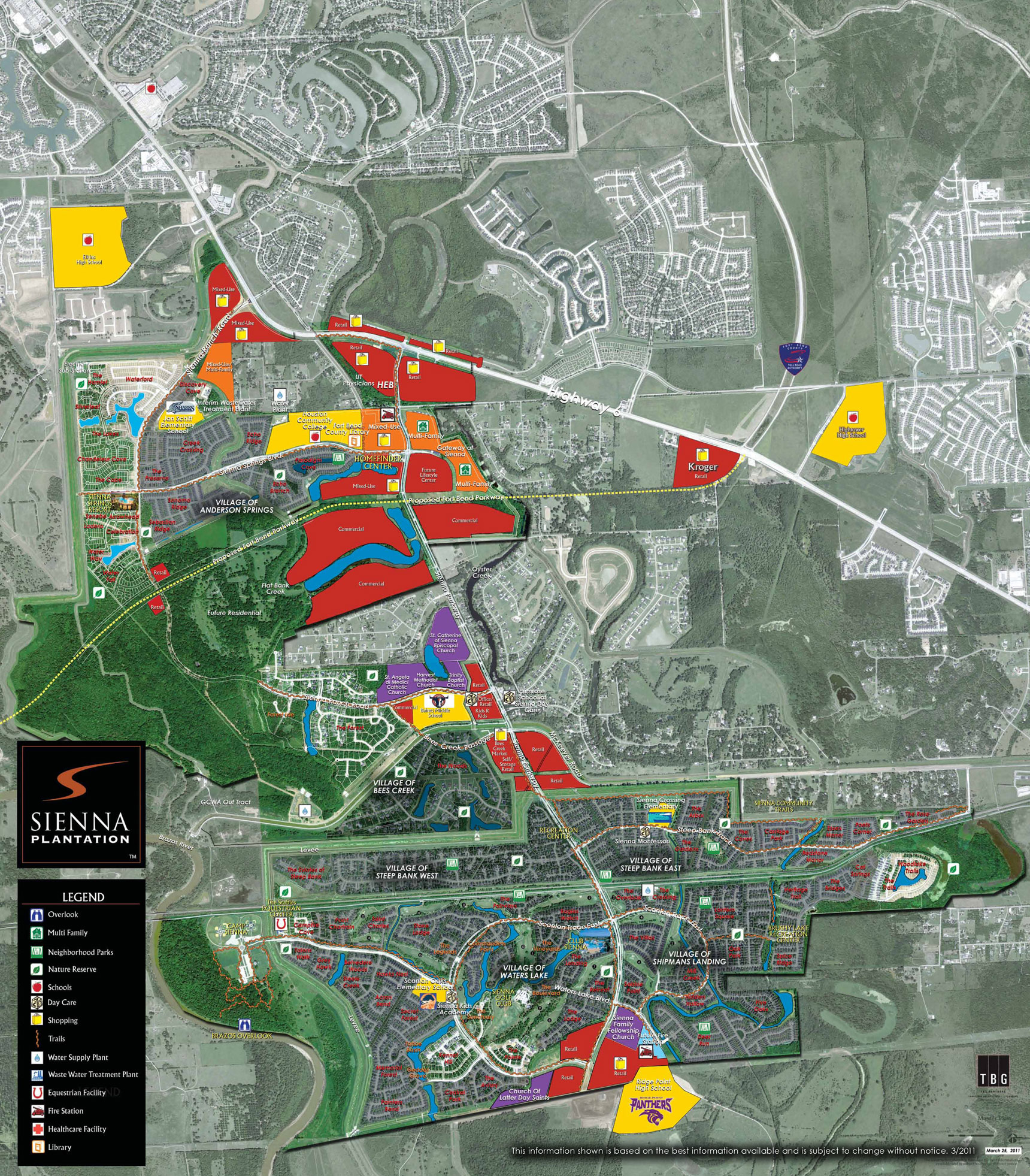 Sienna Plantation | Missouri City Commercial Real Estate | Johnson - Sienna Texas Map