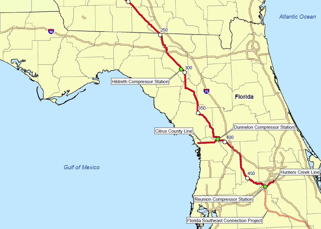 Sierra Club Florida News: Epa Says Sabal Trail Pipeline Is Threat To - Florida Gas Pipeline Map