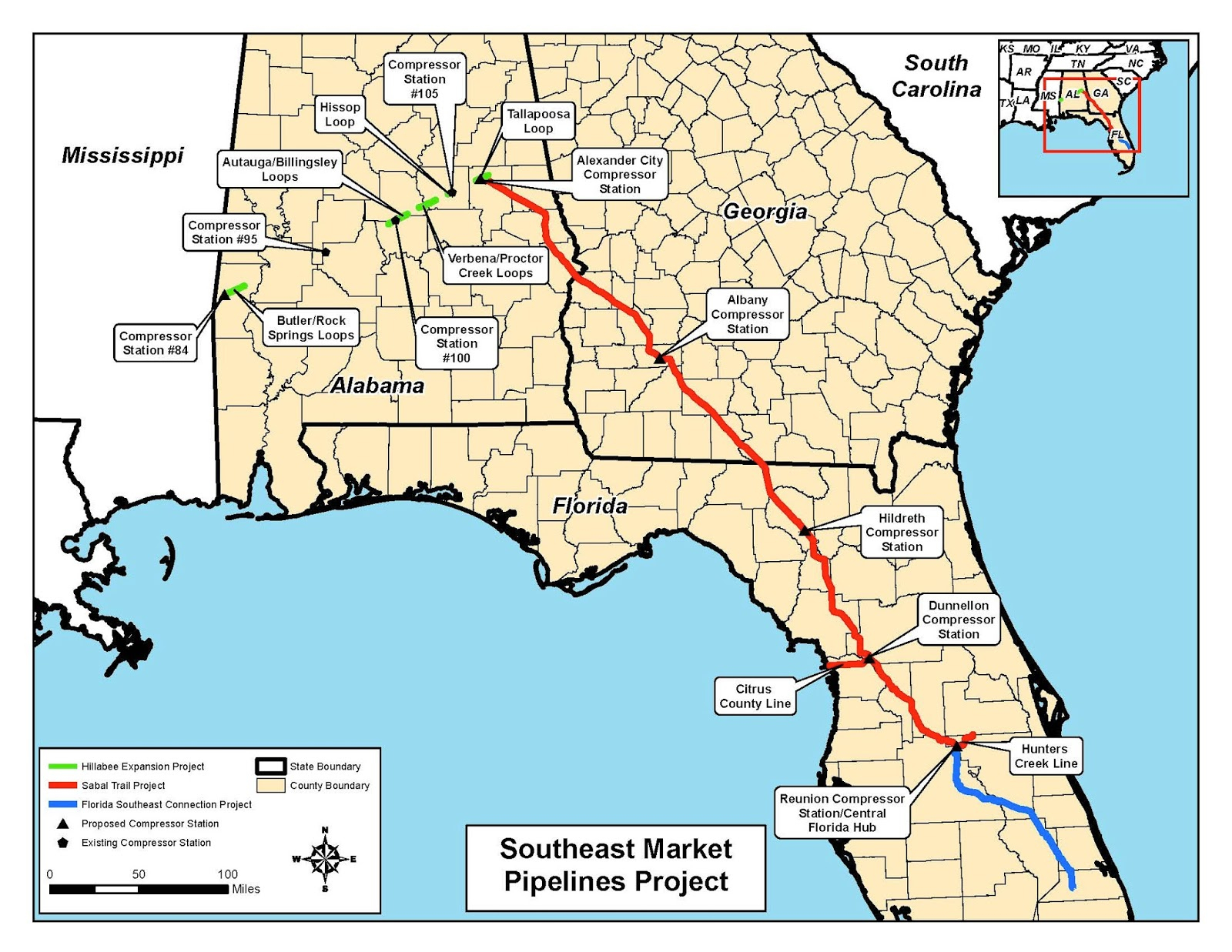 Sierra Club Florida News: Sierra Club And Gulf Restoration Network - Florida Gas Pipeline Map
