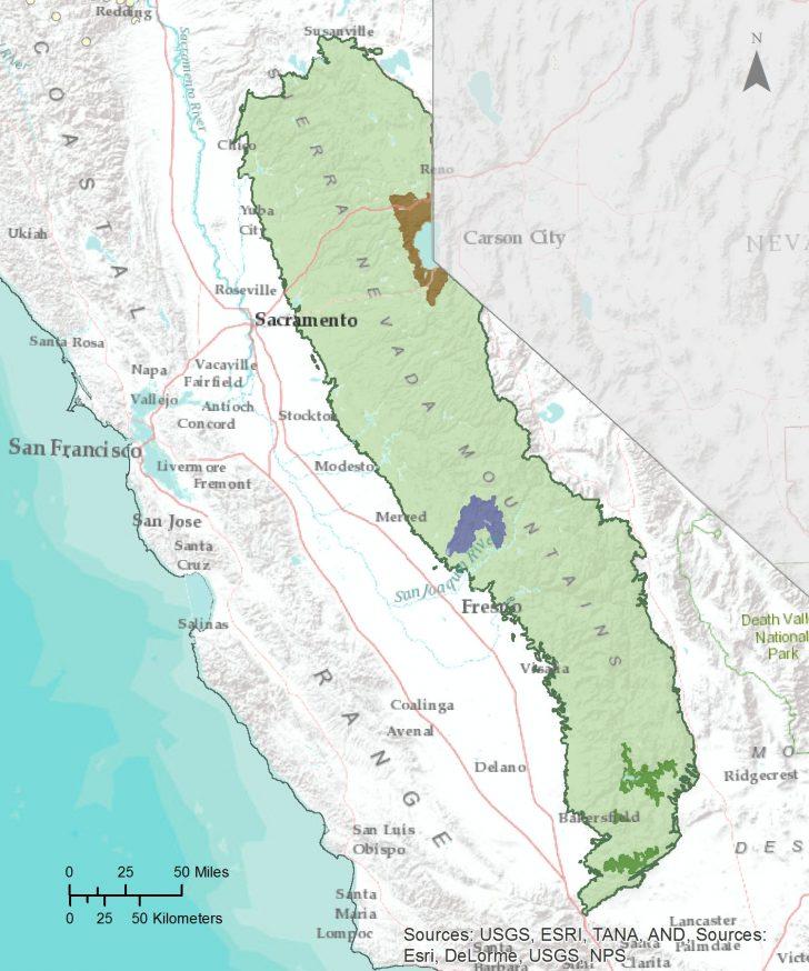 Sierra California Map