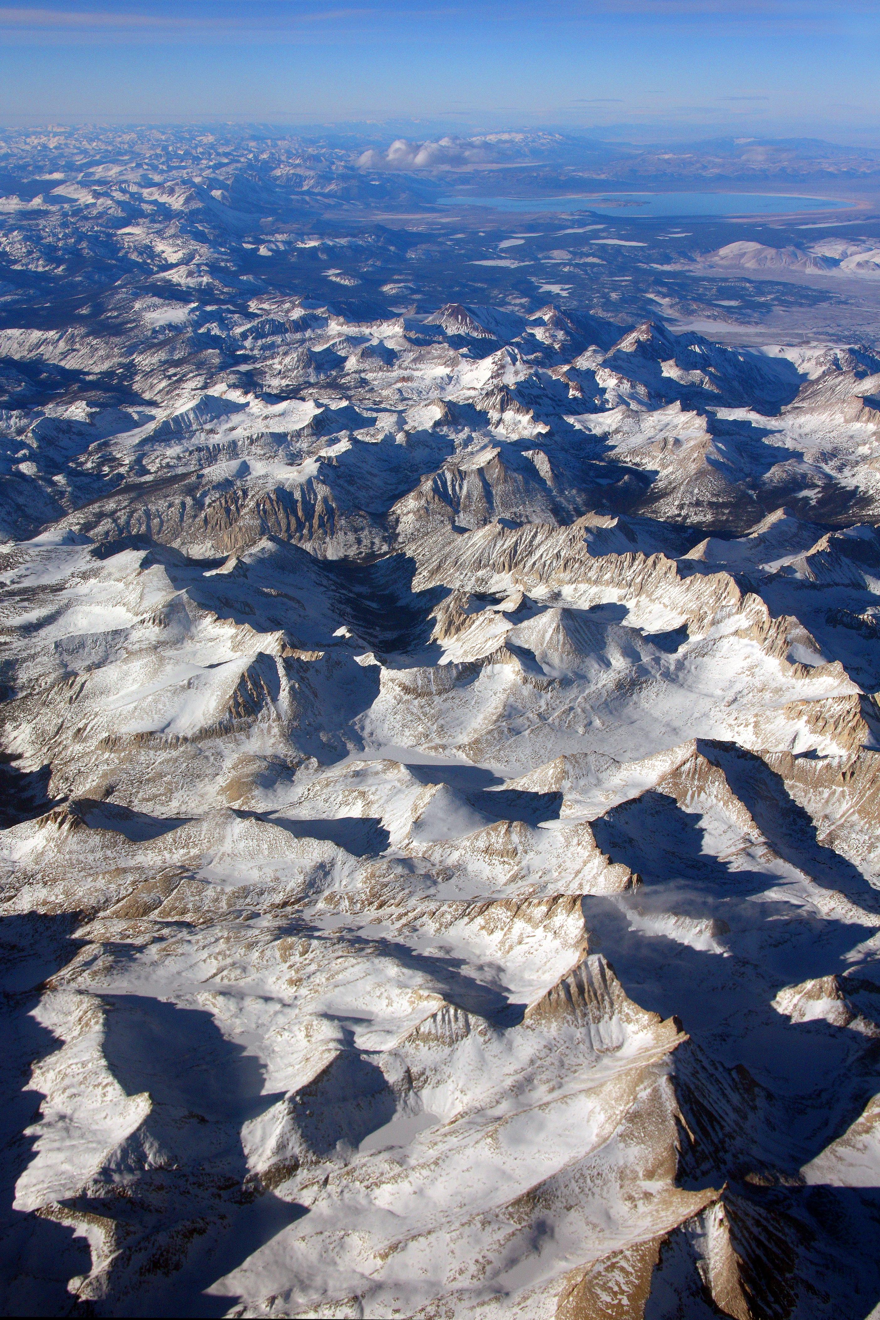 Sierra Nevada (U.s.) - Wikipedia - Map Eastern Sierras California