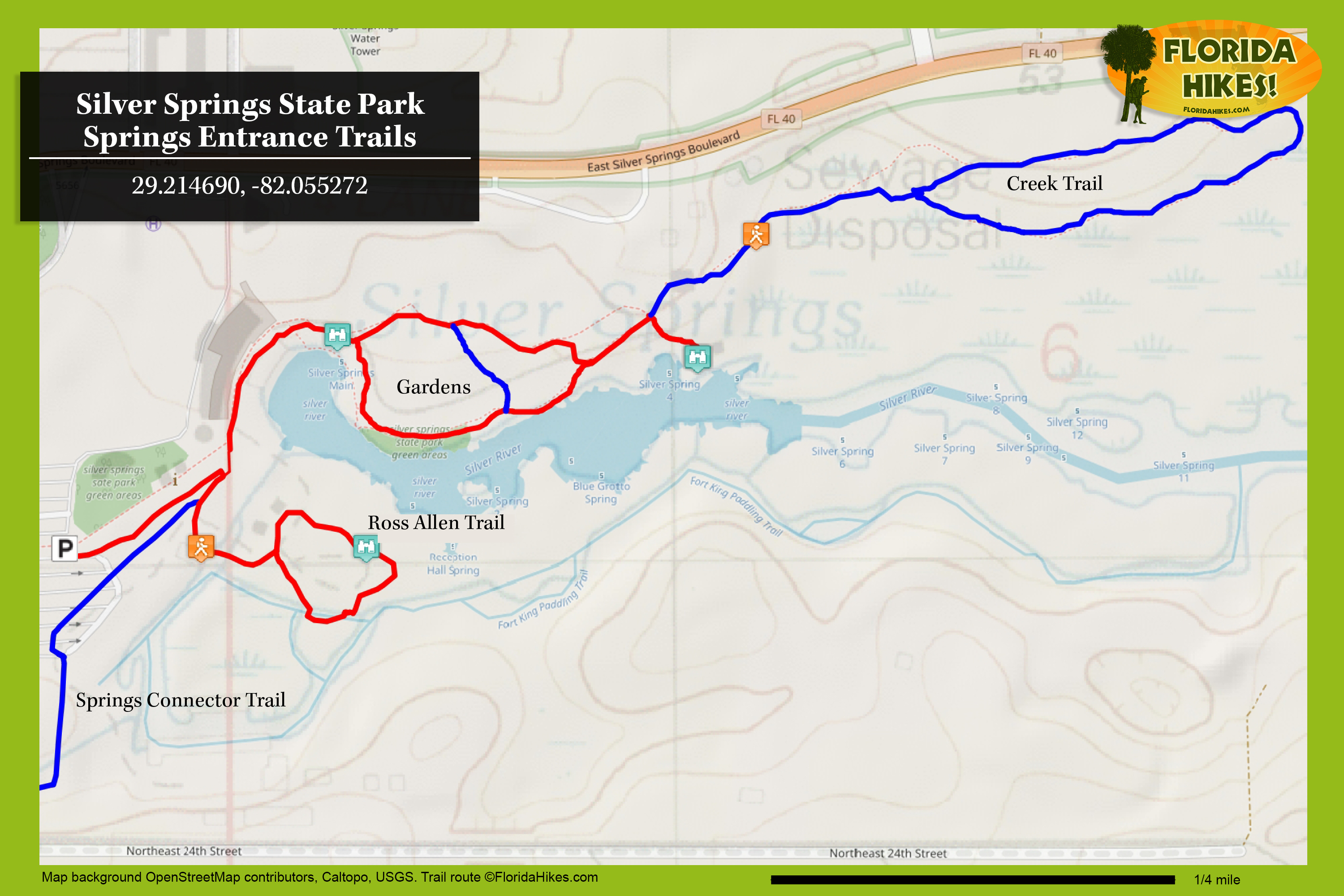 Silver Springs State Park | Florida Hikes! - Silver River Florida Map