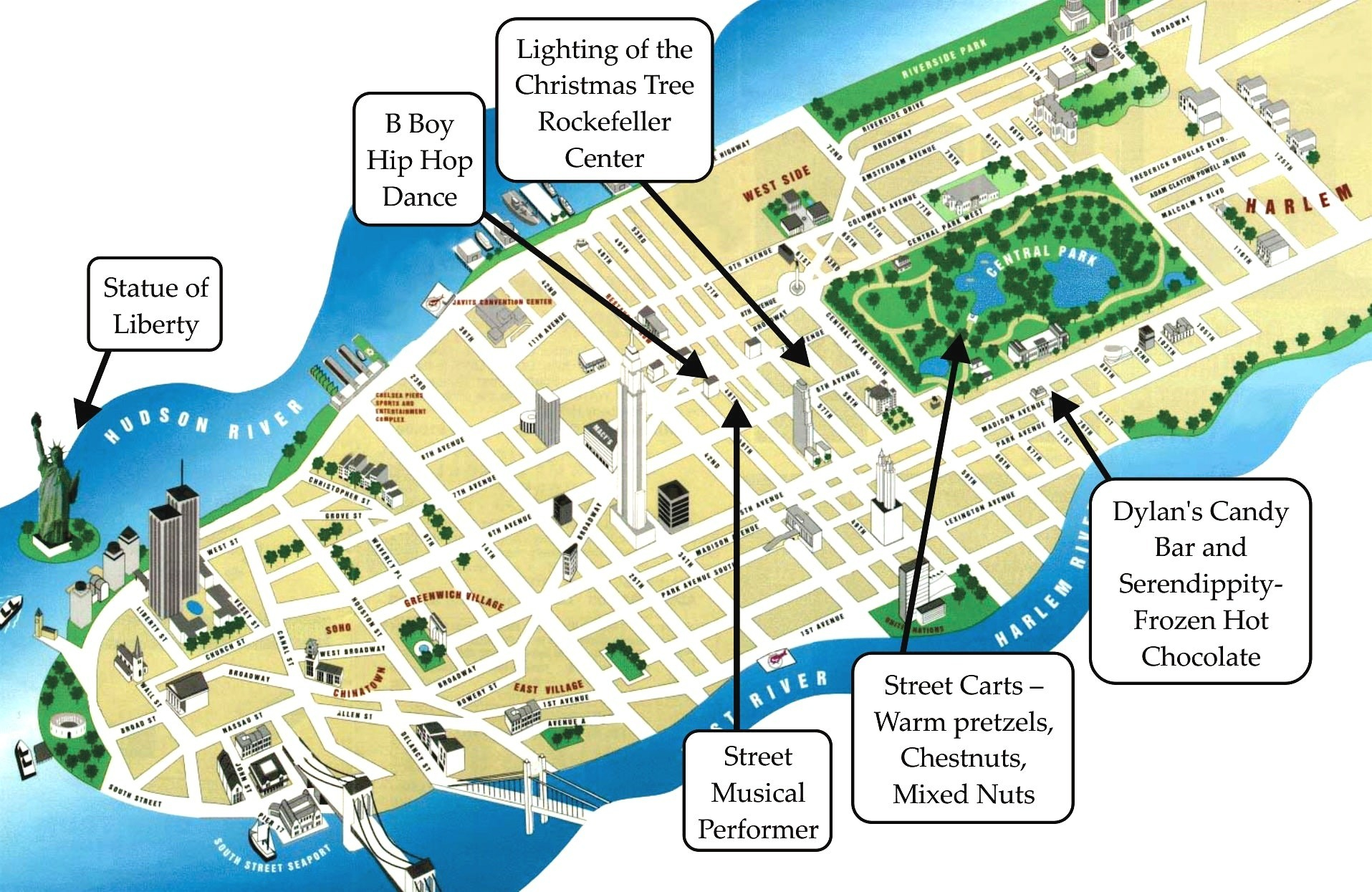 Simple Map Of New York Maps Update Manhattan Tourist Pdf City On - Printable Map Of Manhattan Pdf