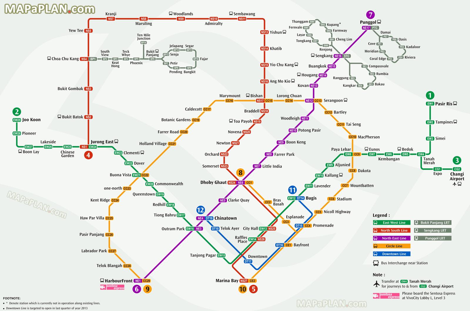 Singapore Maps - Top Tourist Attractions - Free, Printable City - Singapore Mrt Map Printable