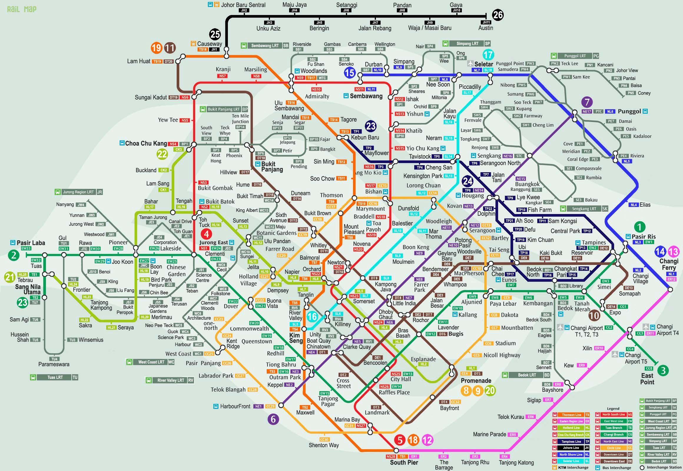 Singapore Mrt Map | Traveling | Singapore Map, Asia Map, Train Map - Singapore Mrt Map Printable