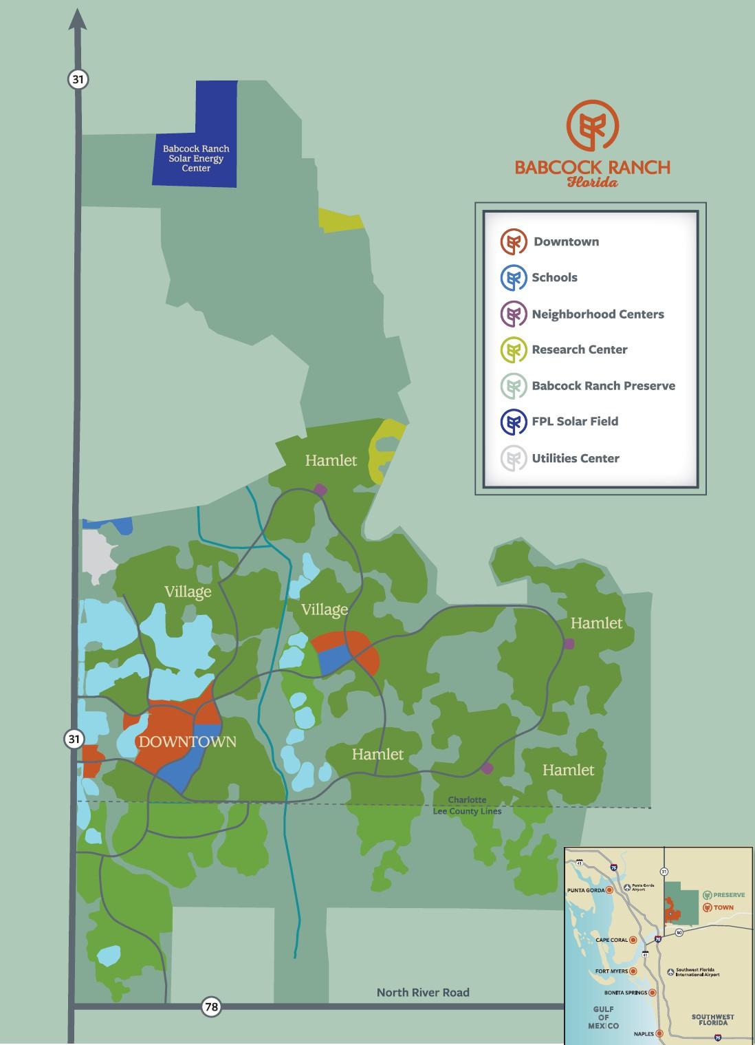 Site Map   Babcock Ranch Telegraph - Babcock Ranch Florida Map
