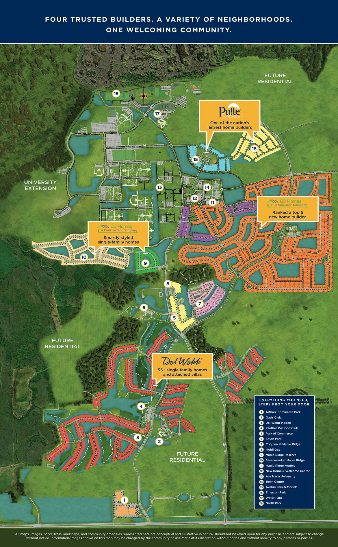 Site Plan - Ave Maria - Ave Maria Florida Map