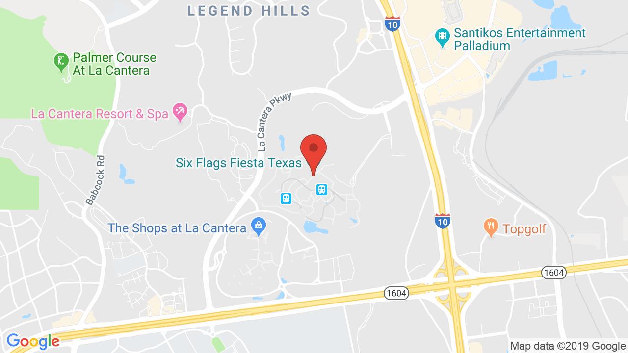 Six Flags Fiesta Texas - Shows, Tickets, Map, Directions - Fiesta Texas Map
