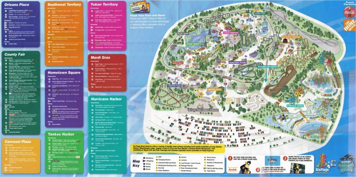 Six Flags Map California 2018