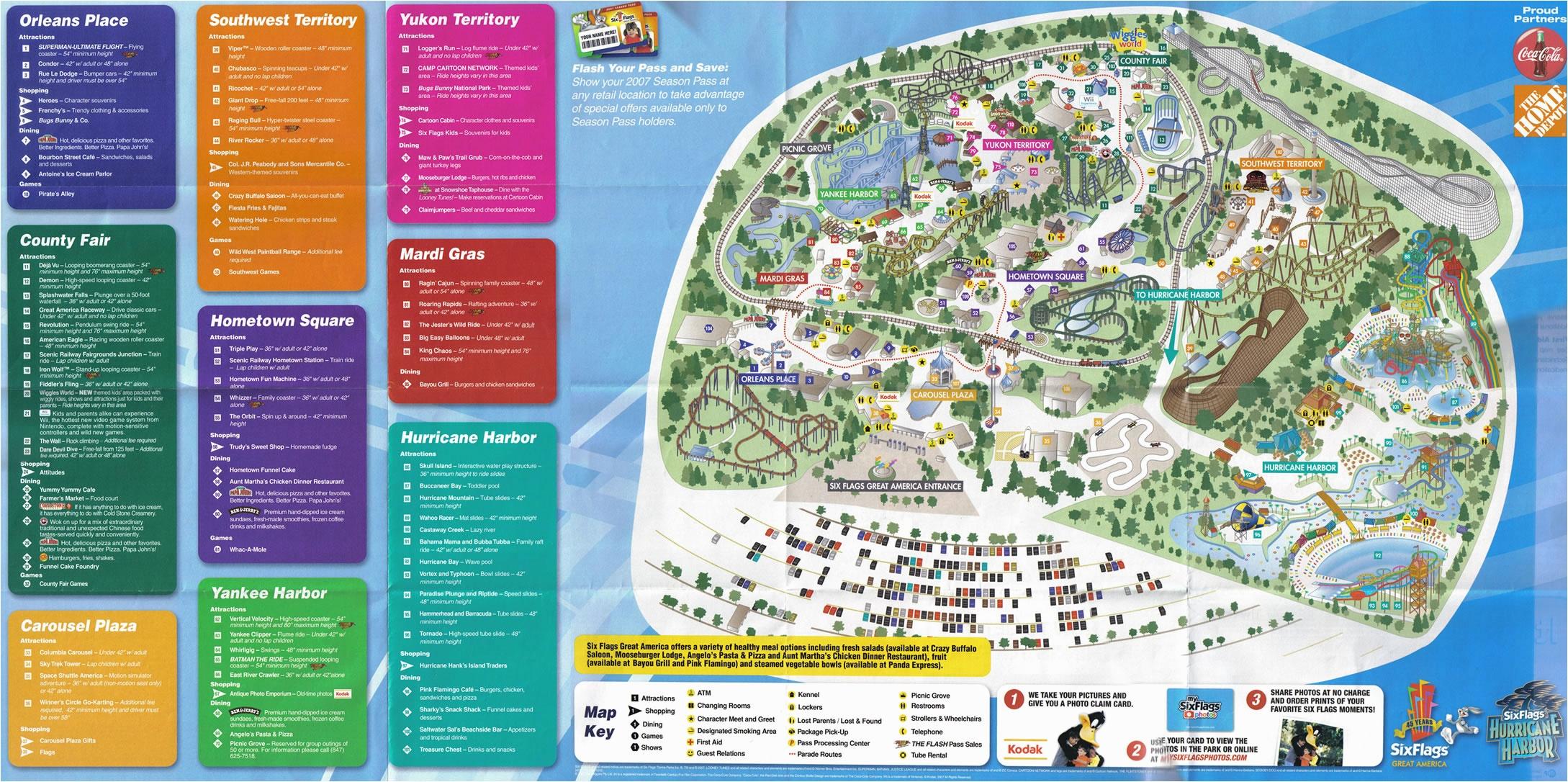 Six Flags Great America Map Burkeen Great America San Jose Map - Six Flags Map California 2018