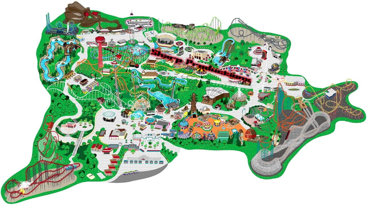 Six Flags Magic Mountain (Interactive Map!) - Youtube - Six Flags Map California 2018