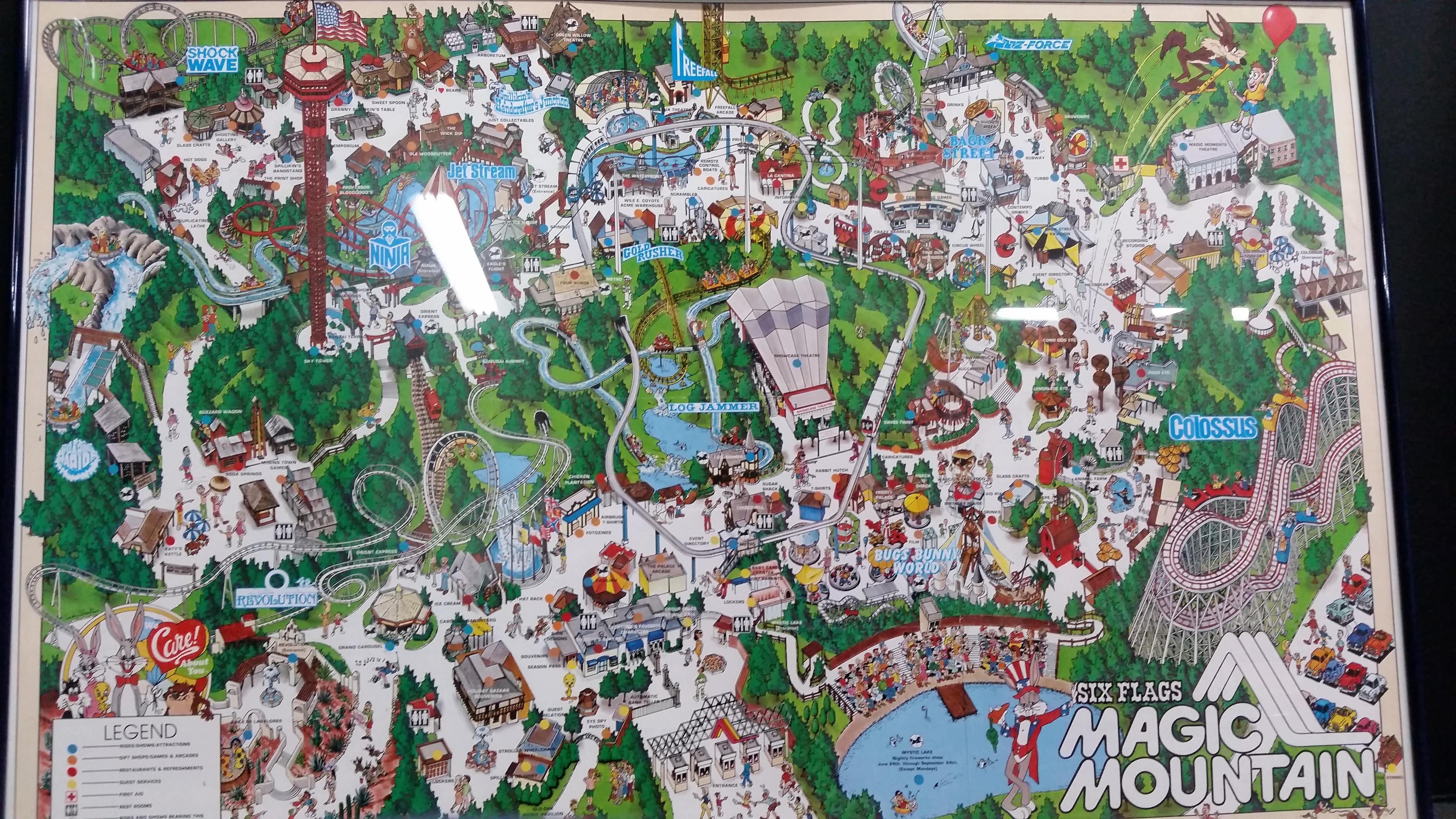 Six Flags Magic Mountain Map From Imgur 3 - Ameliabd - Six Flags Map California 2018