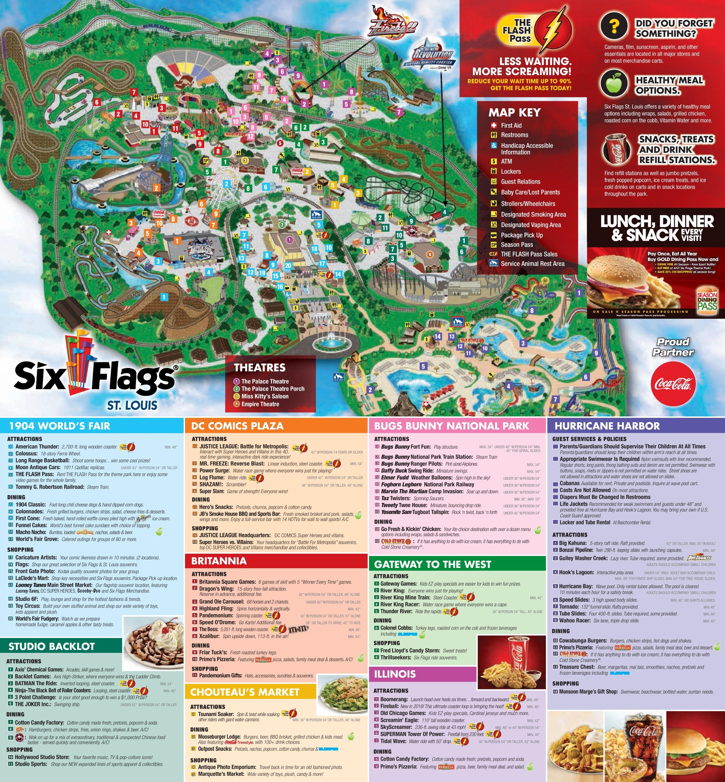 Six Flags Map Usa | Globalsupportinitiative - Six Flags Fiesta Texas Map 2018