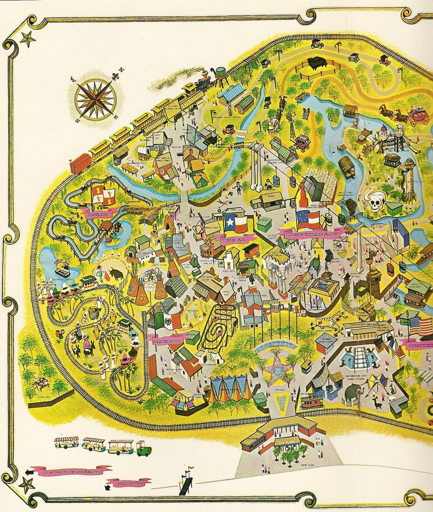 Six Flags Over Texas, West | 1963 Map Of Six Flags Over Texa… | Flickr - Six Flags Over Texas Map