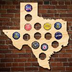 Small Texas Bottle Cap Holder   Texas Beer Cap Map