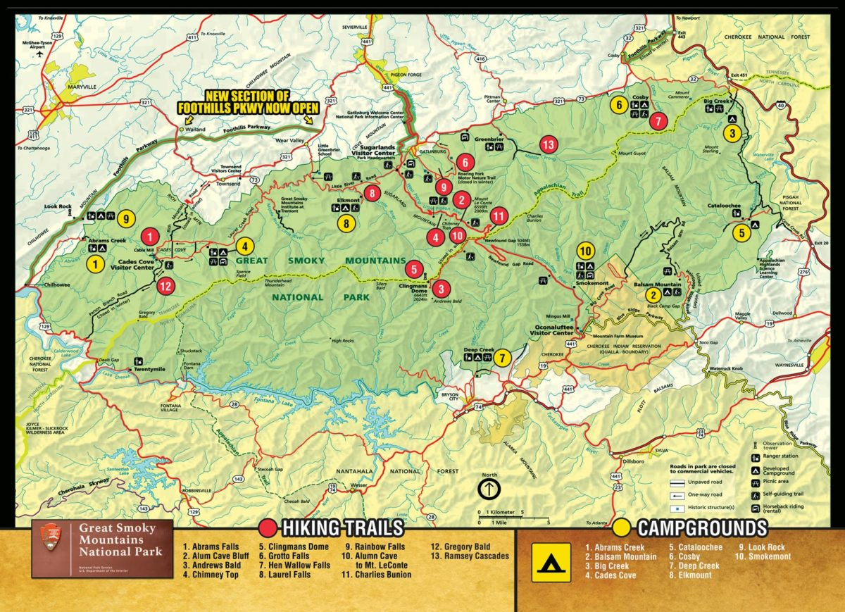 Smoky Mountain Maps - Best Read Guide Smoky Mountains - Printable Street Map Of Pigeon Forge Tn