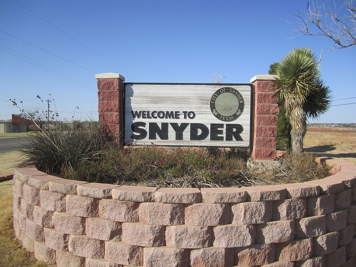 Snyder, Texas - Wikipedia - Snyder Texas Map