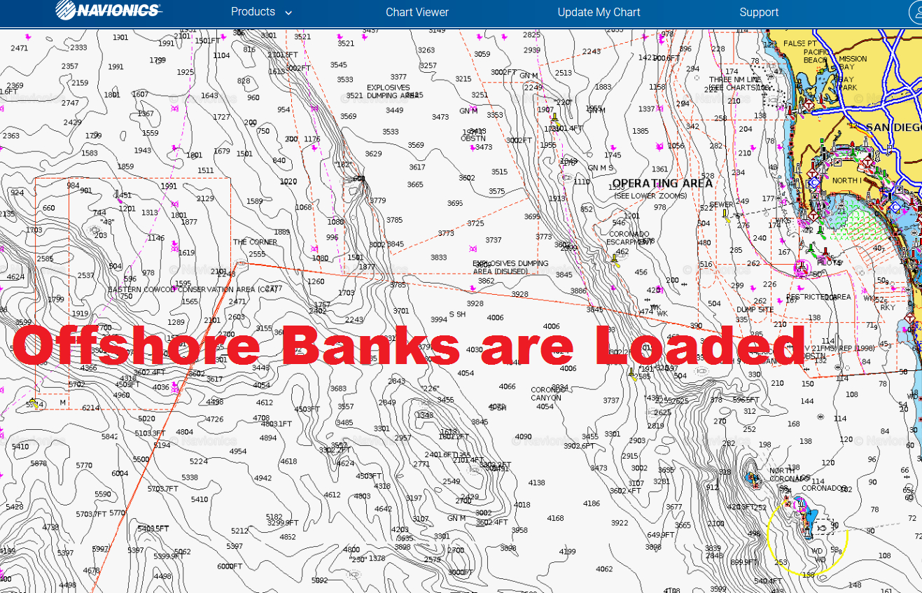 Socal Offshore Fishing Ready To Explode | Bdoutdoors - Southern California Ocean Fishing Maps
