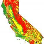 Soils Maps With Road California Earthquake Hazard Map   Klipy   California Soil Map
