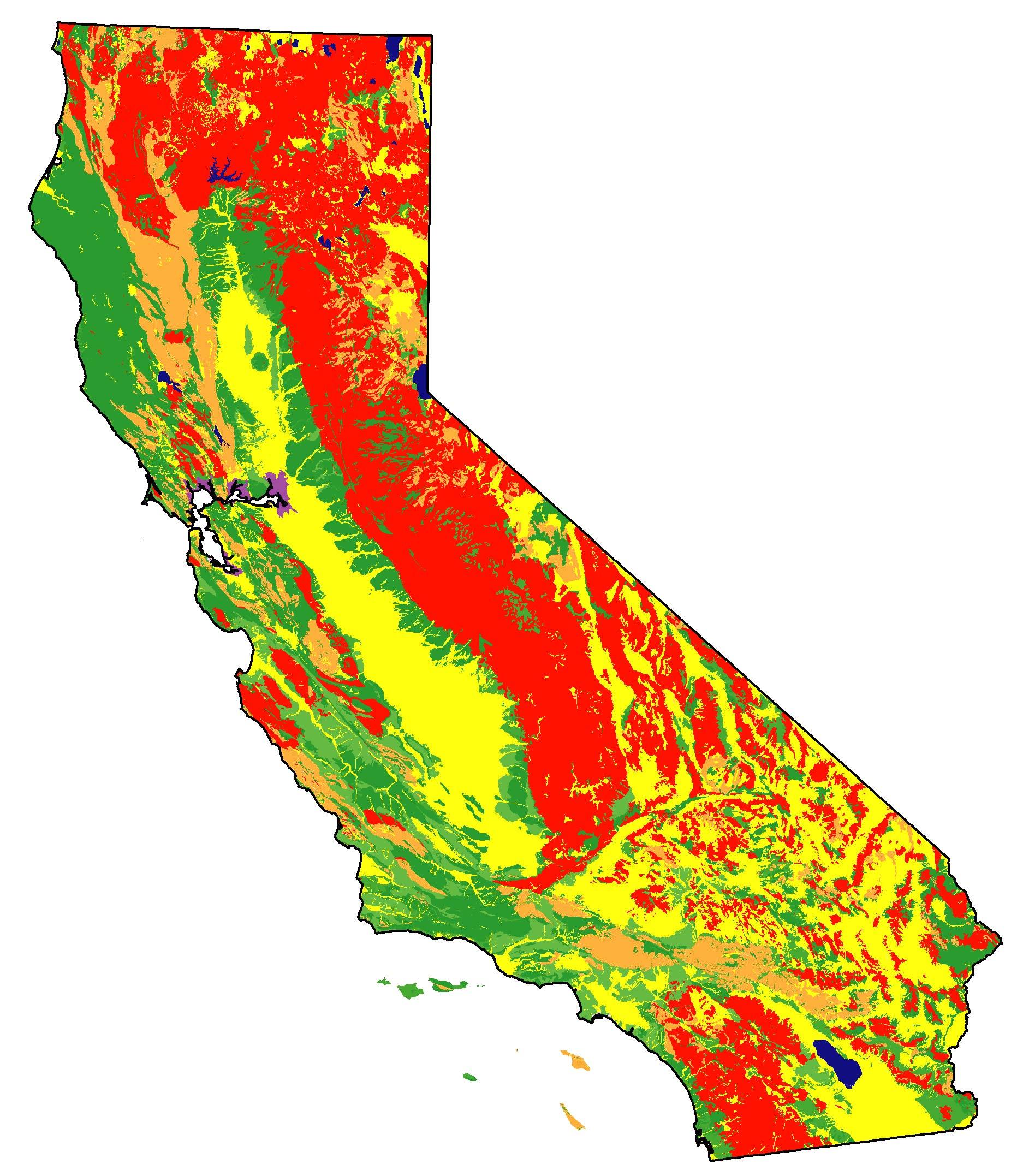 Soils Maps With Road California Earthquake Hazard Map - Klipy - California Soil Map