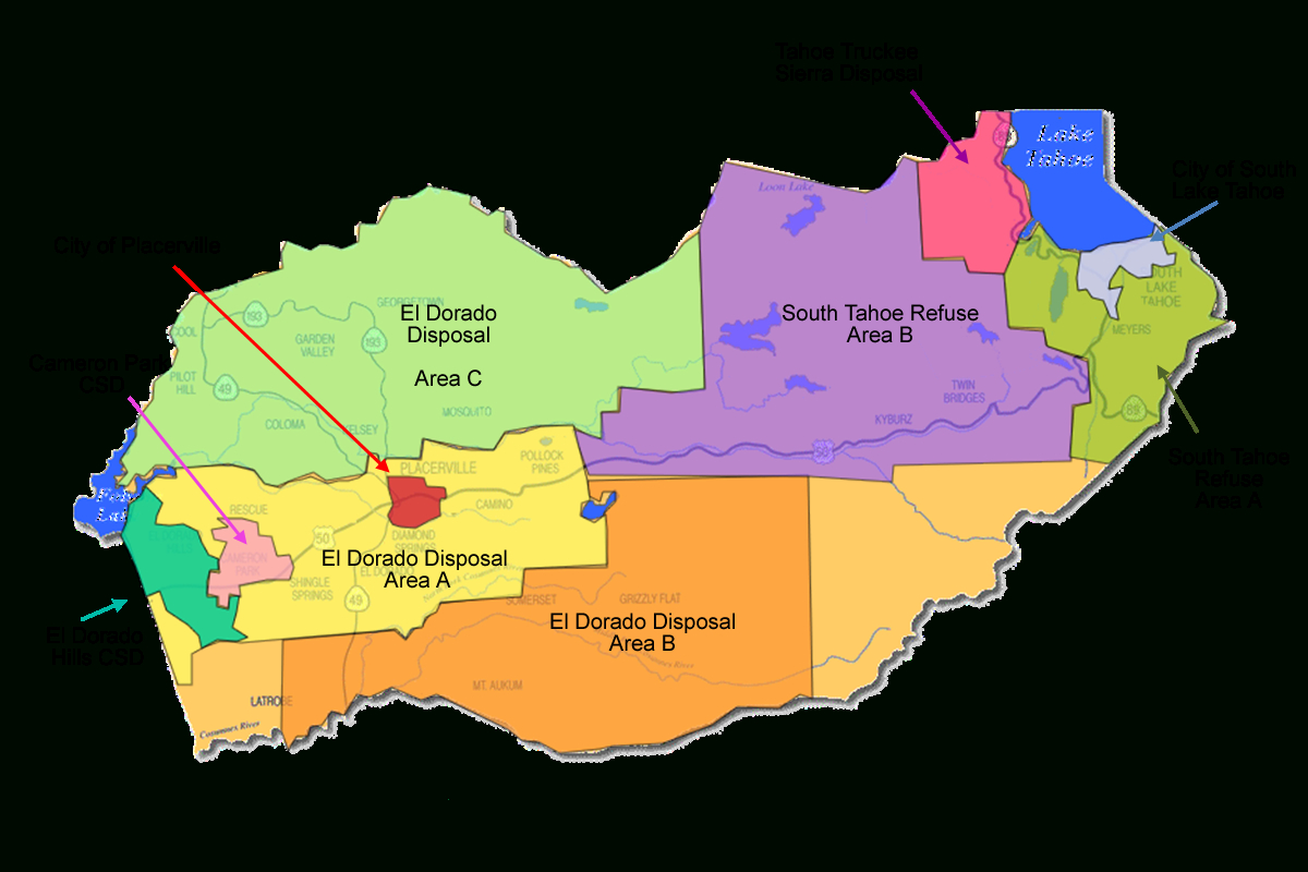 Solid Waste Franchise Area Map - El Dorado County California Parcel Maps
