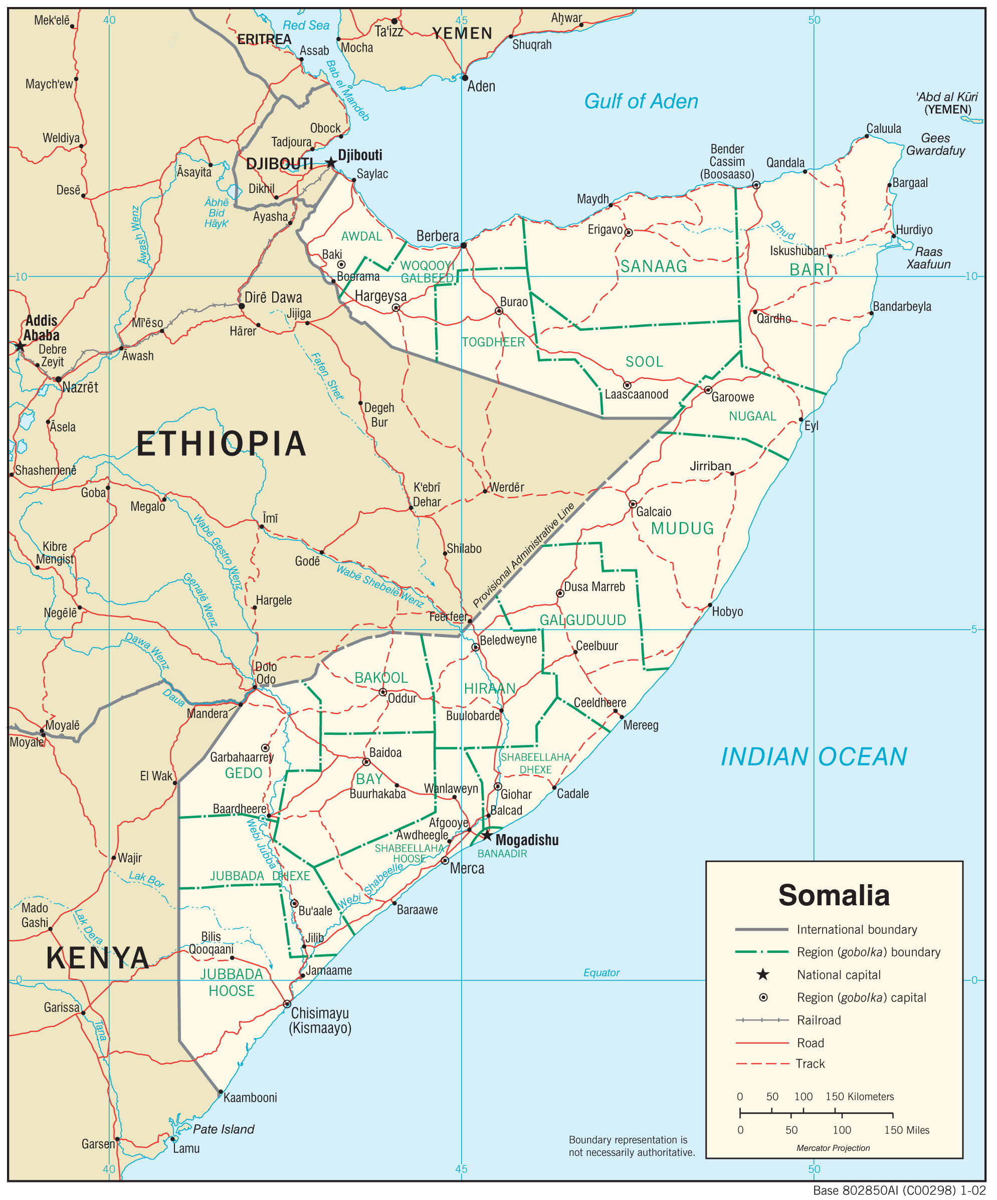 Somalia Maps - Perry-Castañeda Map Collection - Ut Library Online - Van Horn Texas Map