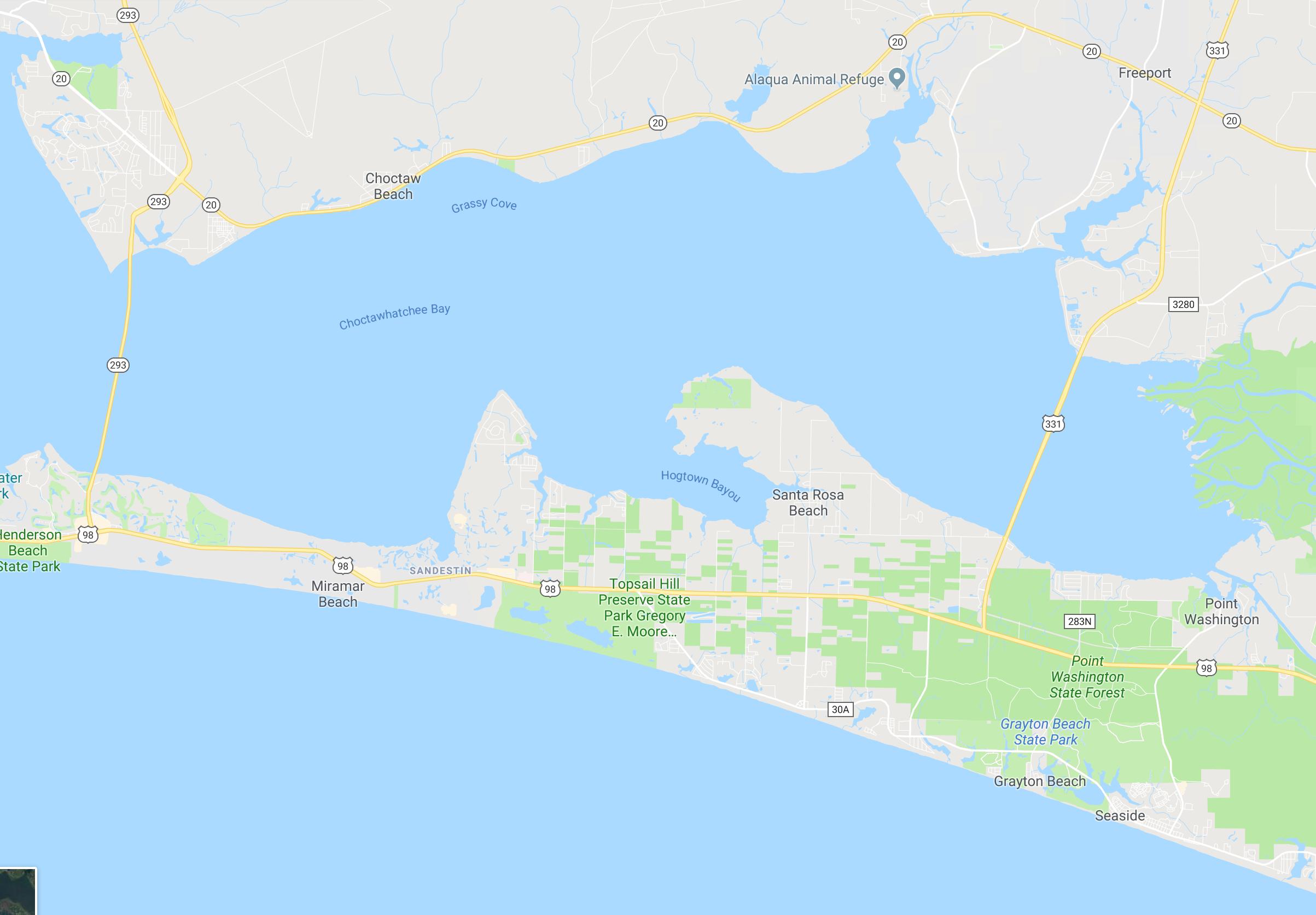 Somers & Company | Scenic 30A And Destin, Fl Real Estate - Google Maps Destin Florida