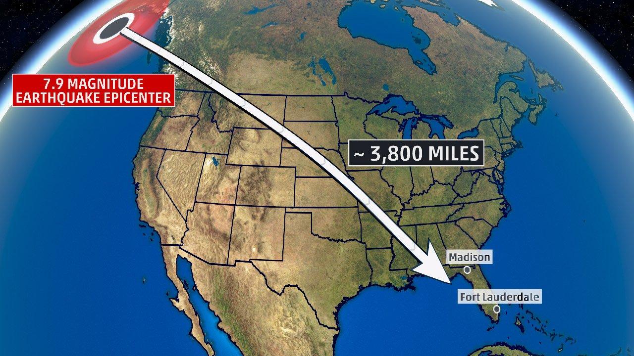Something Shocking Happened In Florida After The Alaska Earthquake - Florida Earthquake Map