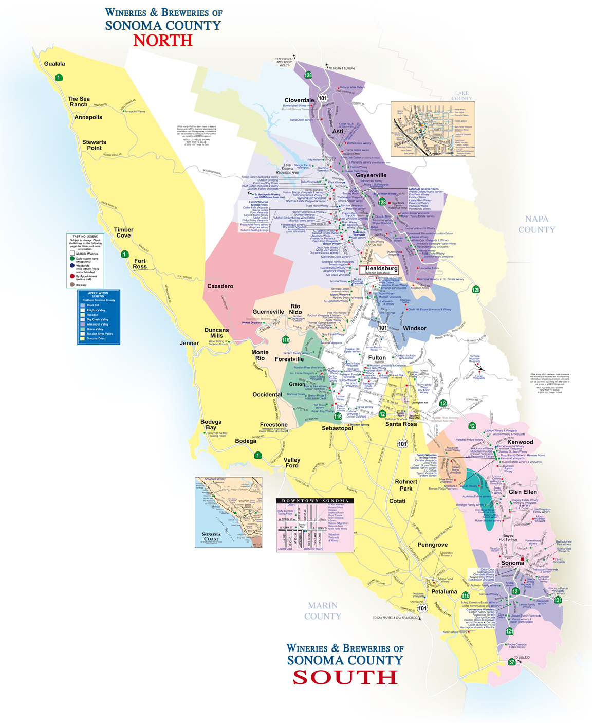 Sonoma County Winery & Brewery Map - 101 Things To Do Wine Country - Map Of Wineries In Sonoma County California