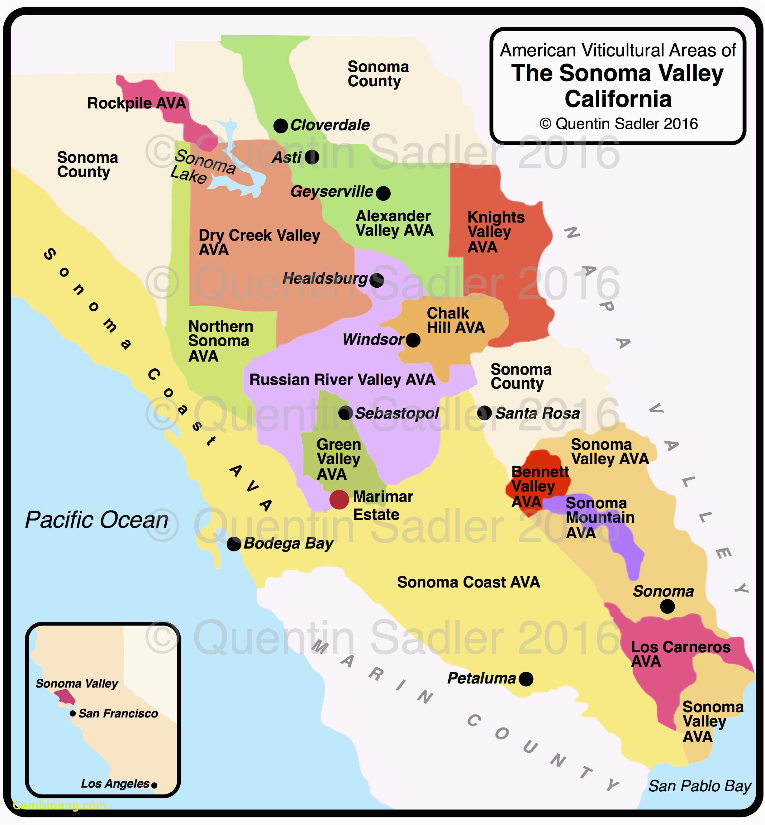 Sonoma Valley California Map | Secretmuseum - Sonoma County California Map