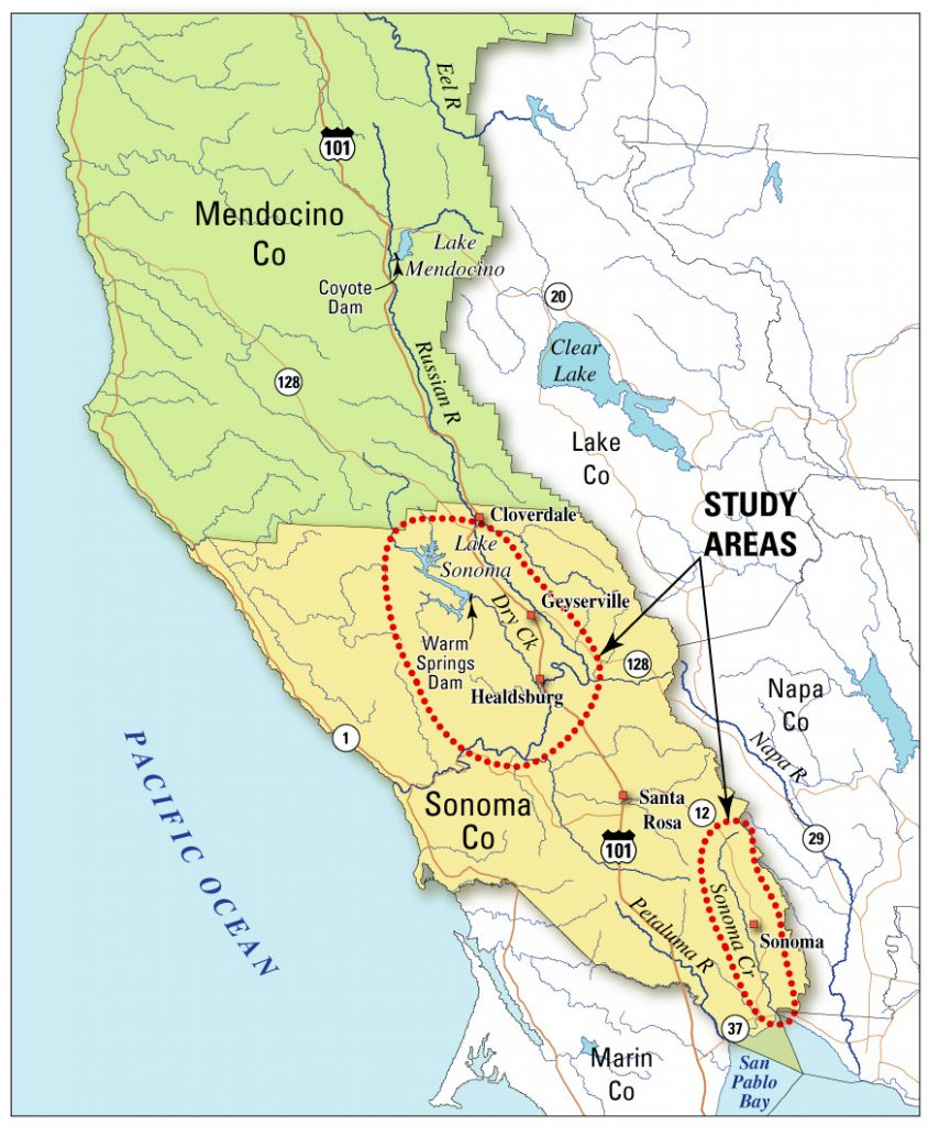 Sonomamap Labeled Map With Russian River California Map X Labeled - Russian River California Map