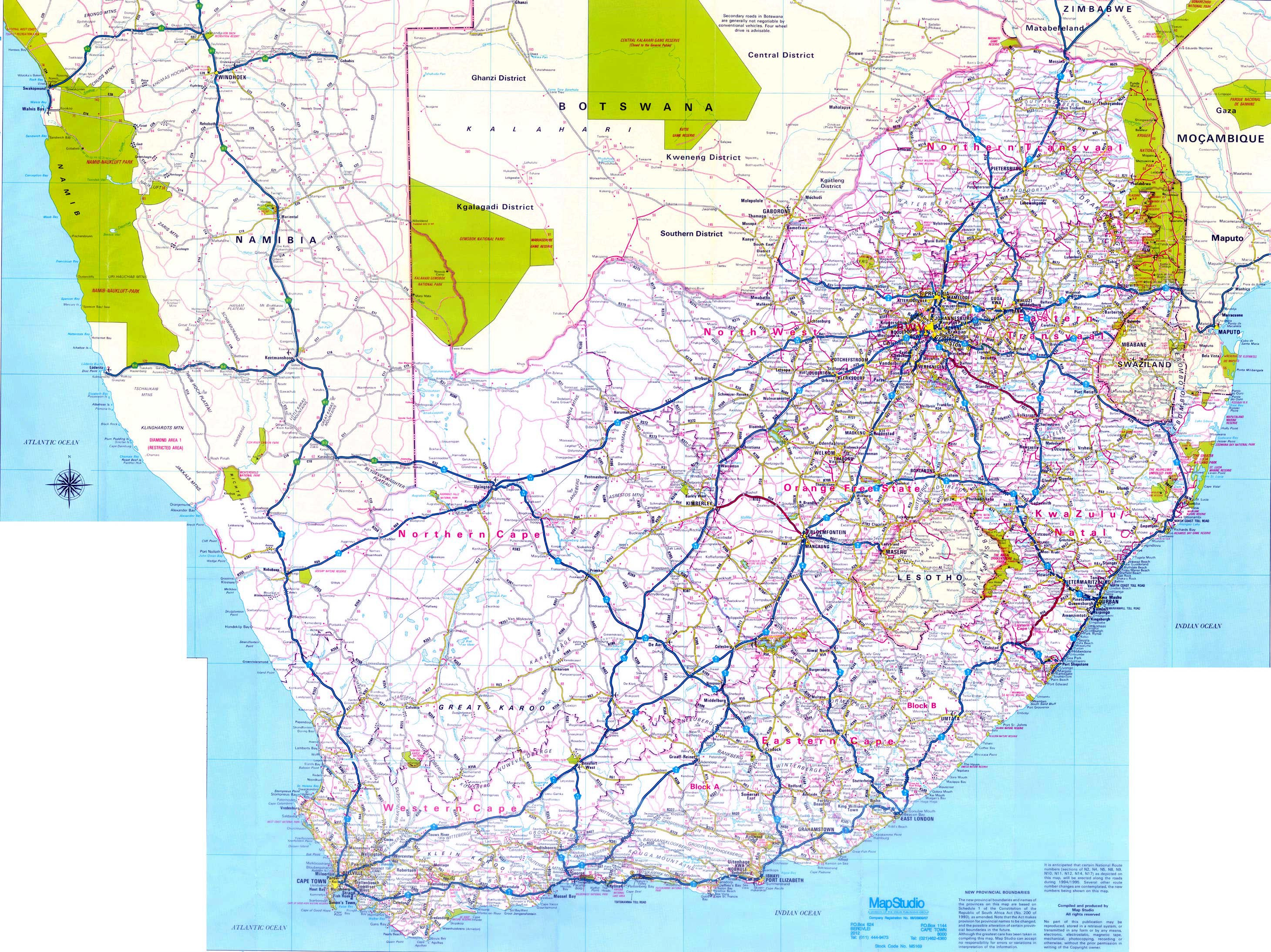 South Africa Maps | Printable Maps Of South Africa For Download - Printable Road Maps