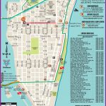 South Beach Restaurant And Sightseeing Map   Map Of South Beach Miami Florida