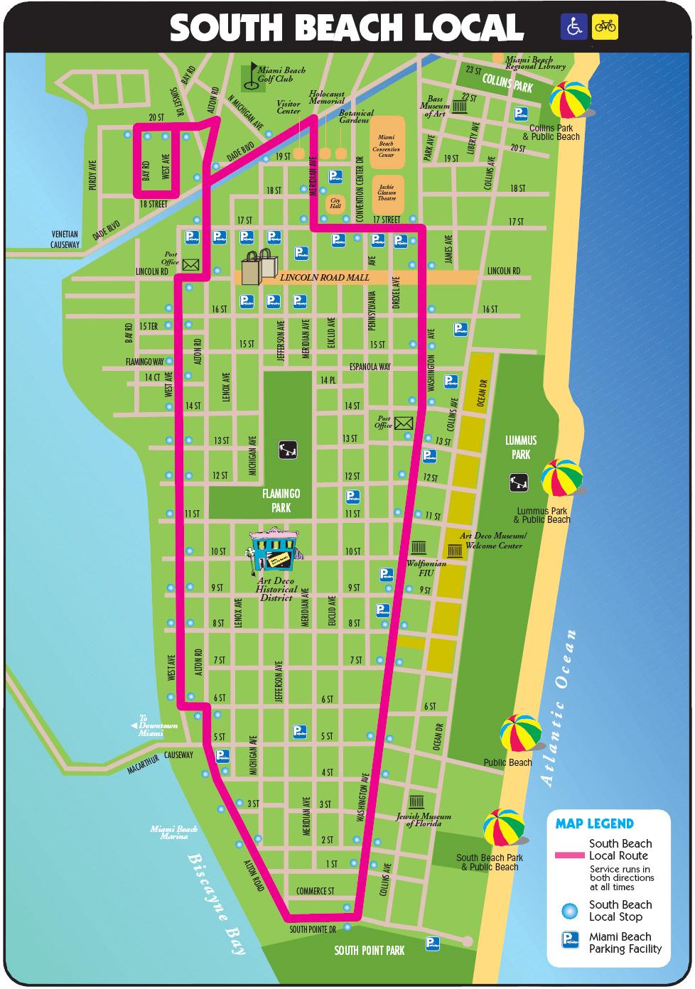 South Beach Tourist Map - Miami Beach Florida • Mappery - South Beach Florida Map