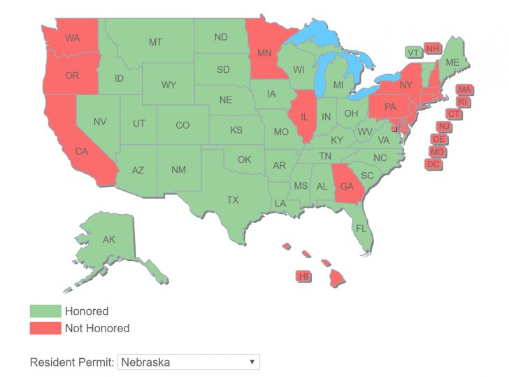 Florida Reciprocity Concealed Carry Map