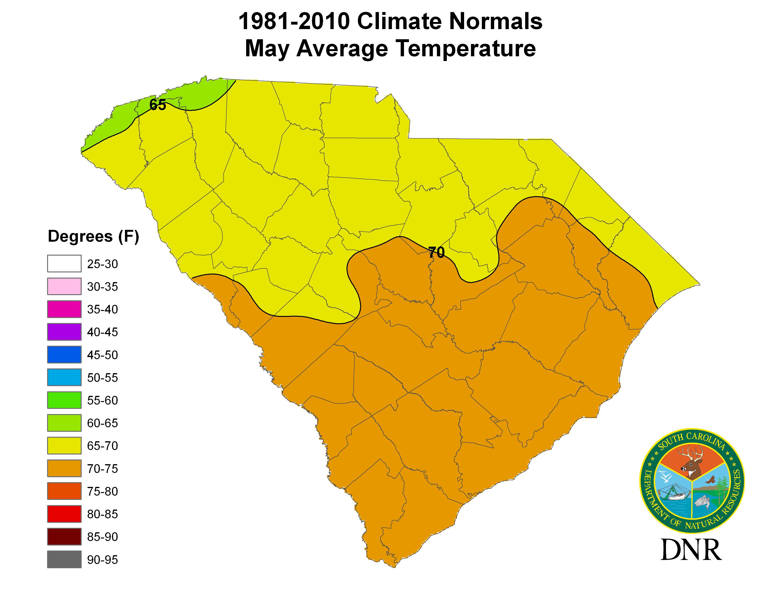 South Carolina State Climatology Office - Florida Temp Map
