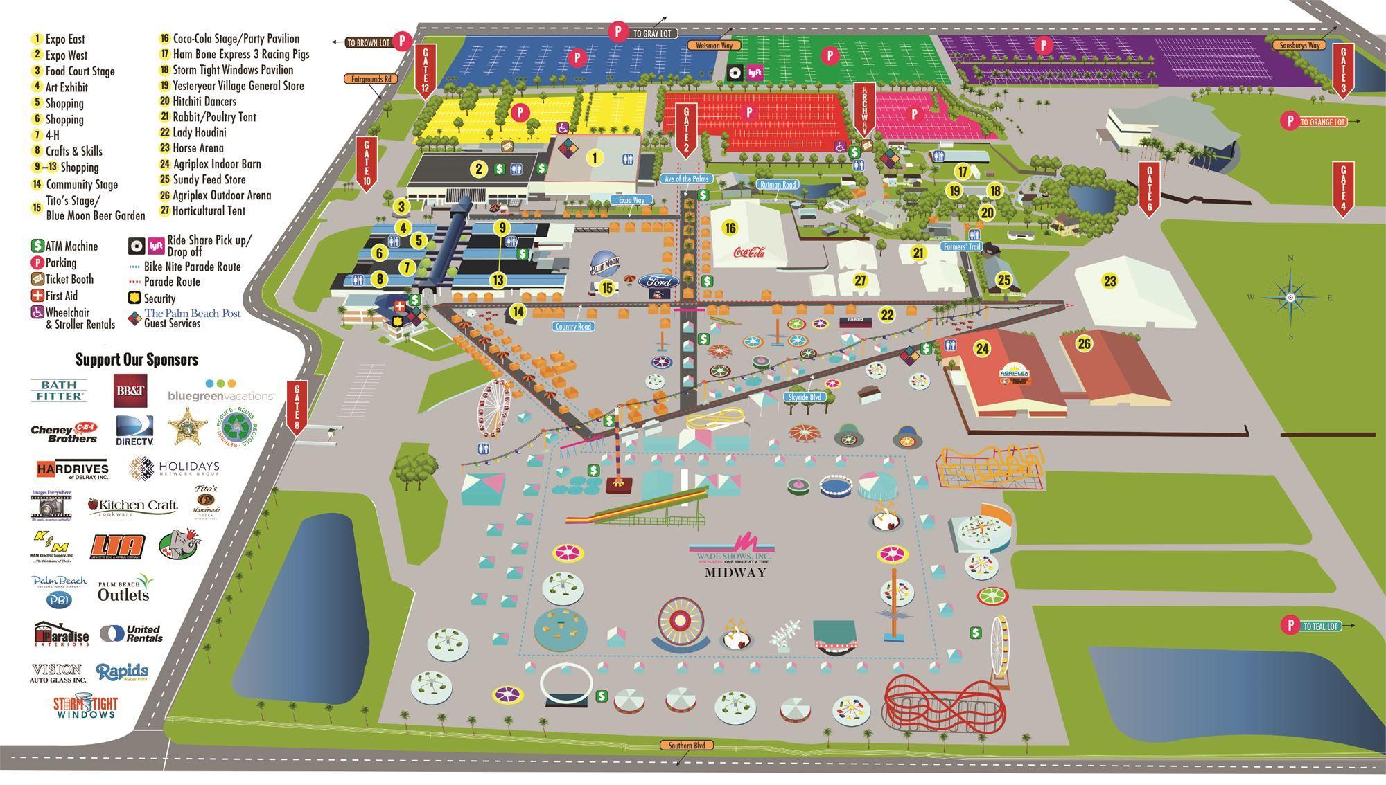 South Florida Fair Map | Www.topsimages - Florida State Fairgrounds Map