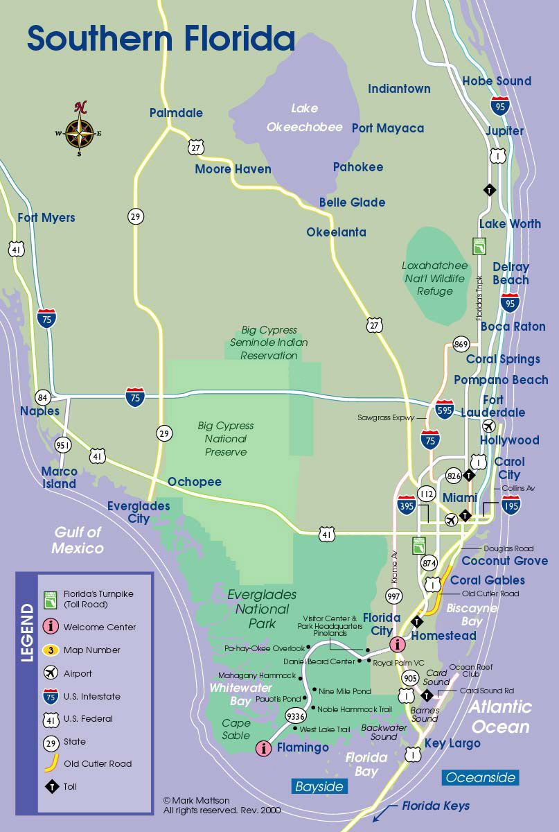 South Florida Map | Florida | Floride, Voyage - Map Of Florida Keys With Cities