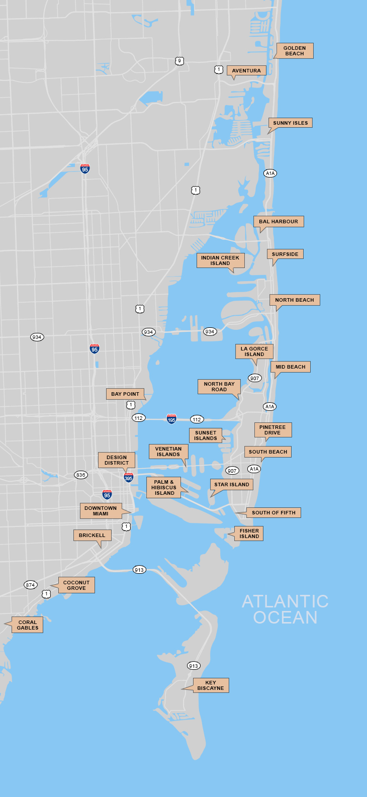 South Florida Map Search - Emerald Island Florida Map