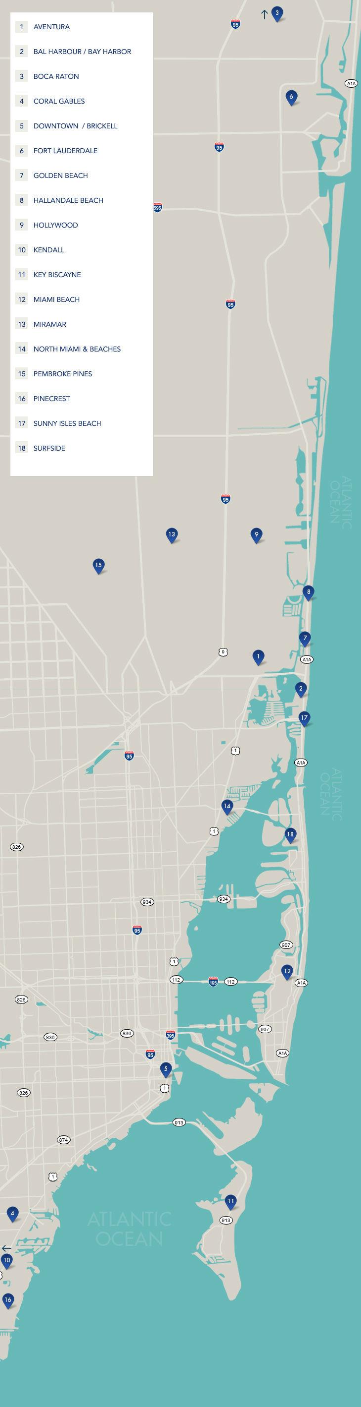 South Florida Neighborhoods | Map Of South Florida - Pembroke Pines Florida Map