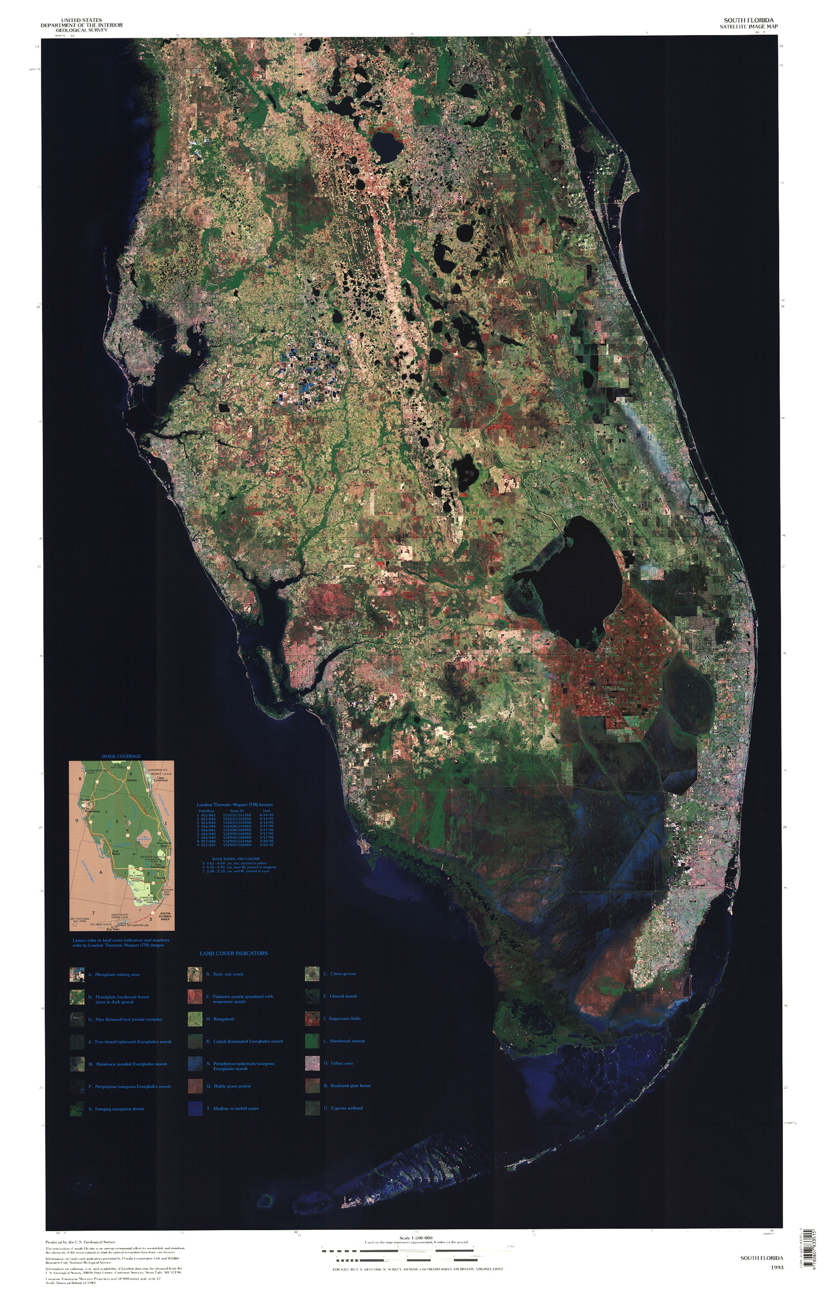 South Florida Satellite Image Map | Maps | Pinterest | Cypress Swamp - Map Of Florida Showing The Everglades