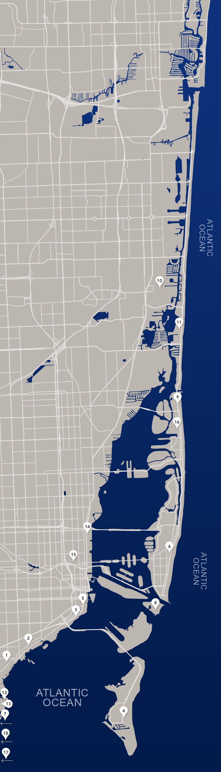 South Miami Map, Map Of Coral Gables, Coconut Grove Map, Pinecrest - Coral Gables Florida Map