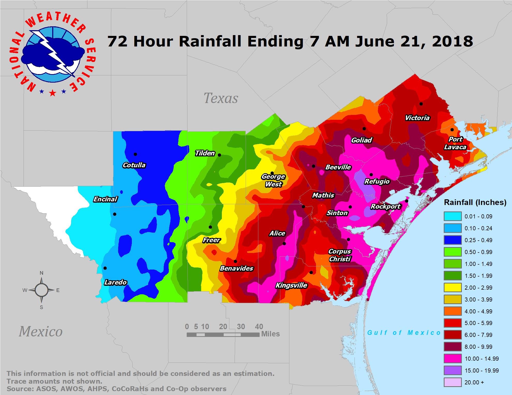 South Texas Heavy Rain And Flooding Event: June 18-21, 2018 - Texas Flood Map