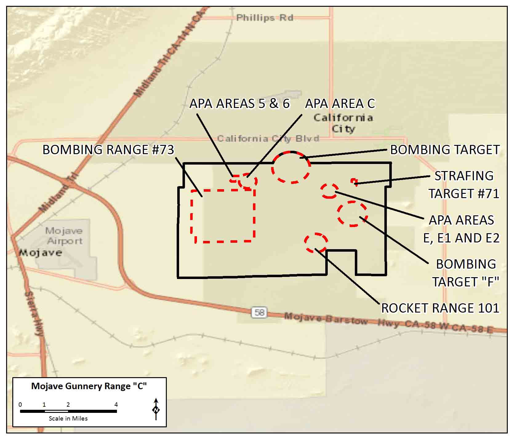 "Southern California Airport Map Detailed Mojave Gunnery Range ""c - Mojave California Map"